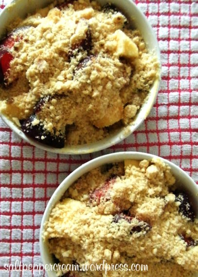 Plum & Apple Crumble