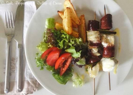 Monkfish & Chorizo Skewers