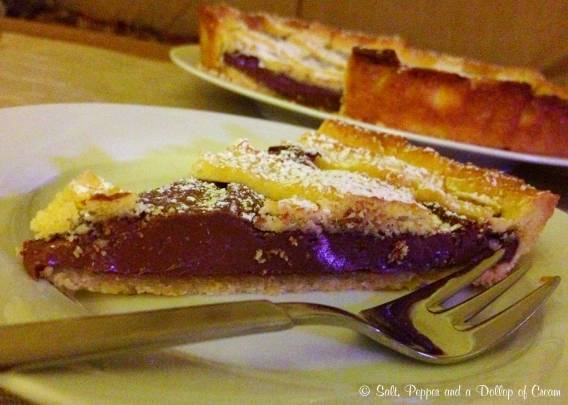Nutella Tart with Orange Sweet Pastry