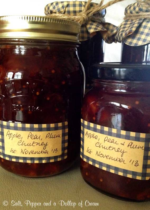 Apple, Pear and Plum Chutney