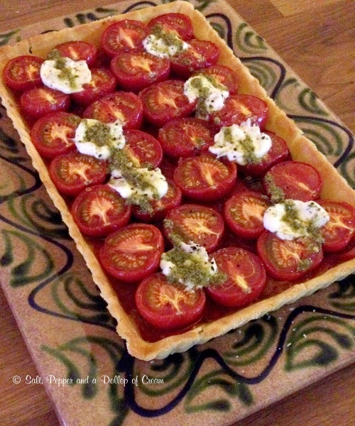 tomato and goats cheese tart